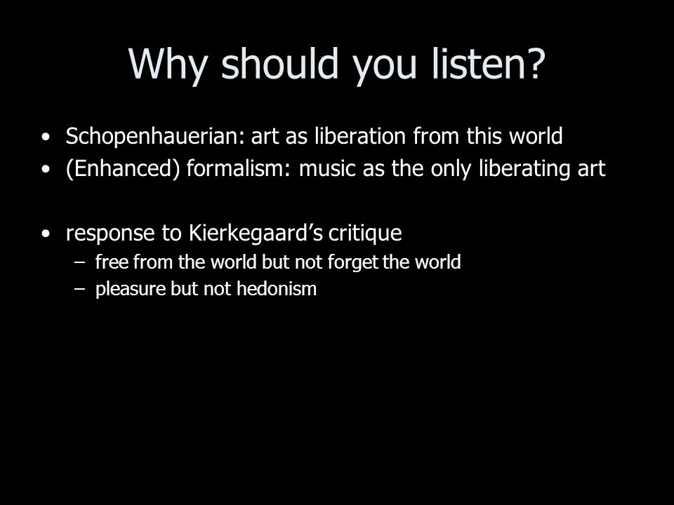 Why should you listen.