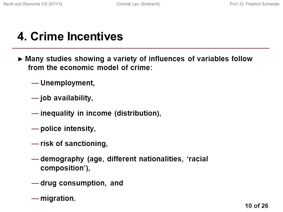 10 of 26 Recht und Ökonomie WS 2011/12Criminal Law (Strafrecht)Prof.