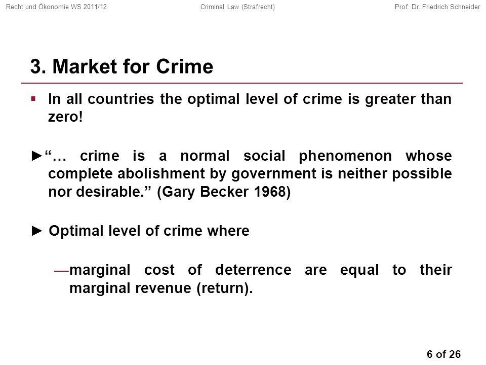 6 of 26 Recht und Ökonomie WS 2011/12Criminal Law (Strafrecht)Prof.