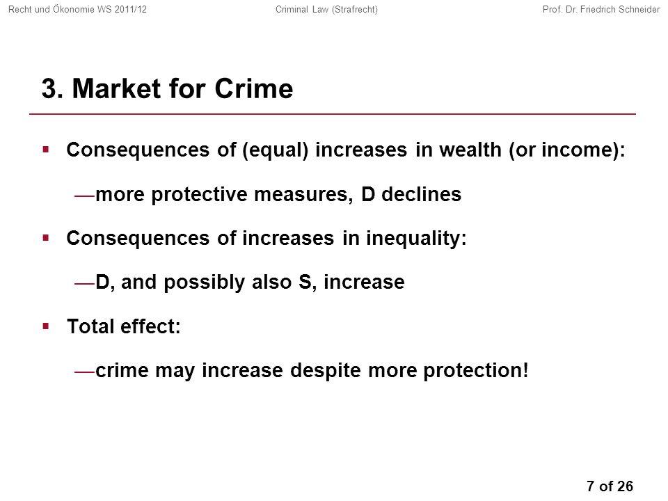 7 of 26 Recht und Ökonomie WS 2011/12Criminal Law (Strafrecht)Prof.