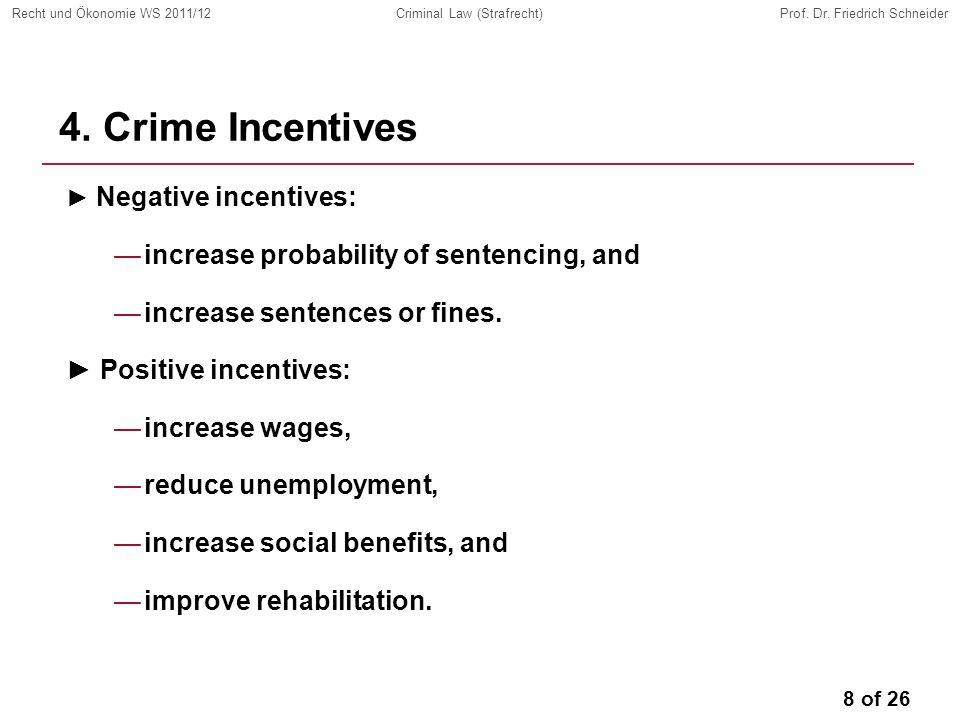 8 of 26 Recht und Ökonomie WS 2011/12Criminal Law (Strafrecht)Prof.