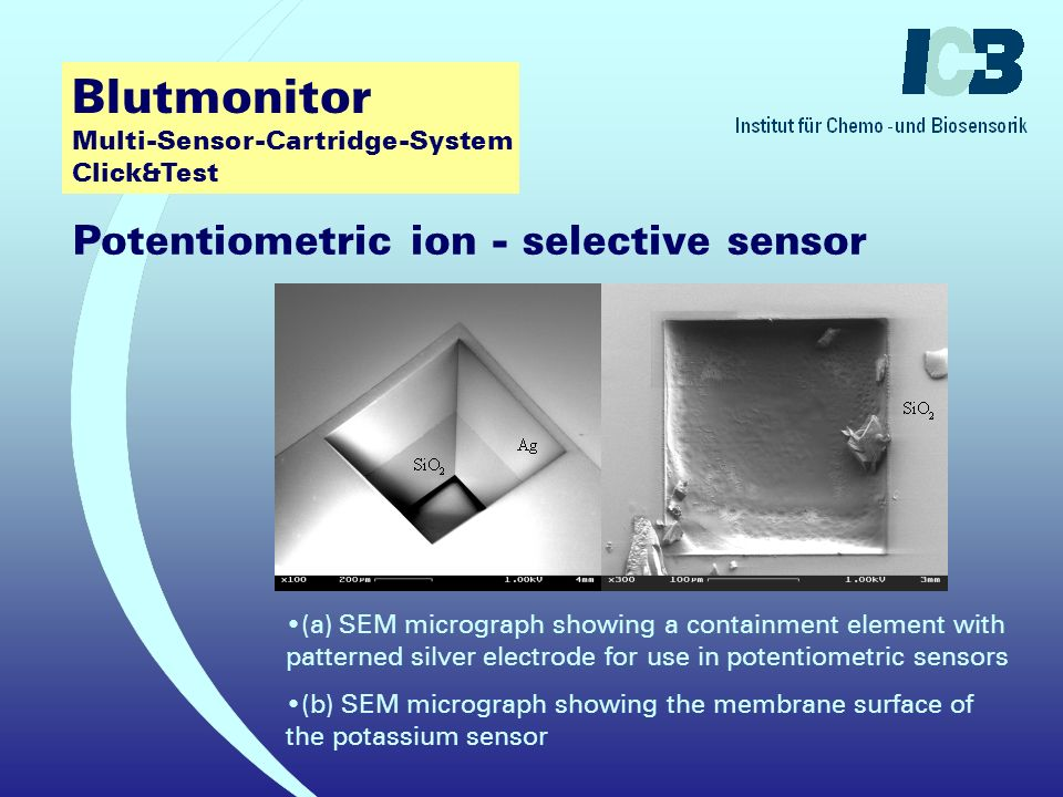 Blutmonitor Multi-Sensor-Cartridge-System Click&Test Potentiometric ion - selective sensors