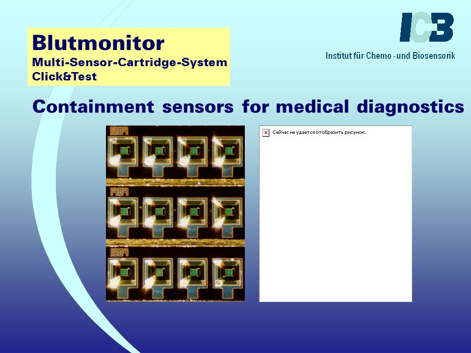 Blutmonitor Multi-Sensor-Cartridge-System Click&Test Containment sensors for medical diagnostics Analysis of blood electrolytes ? Potassium K + ? Calc
