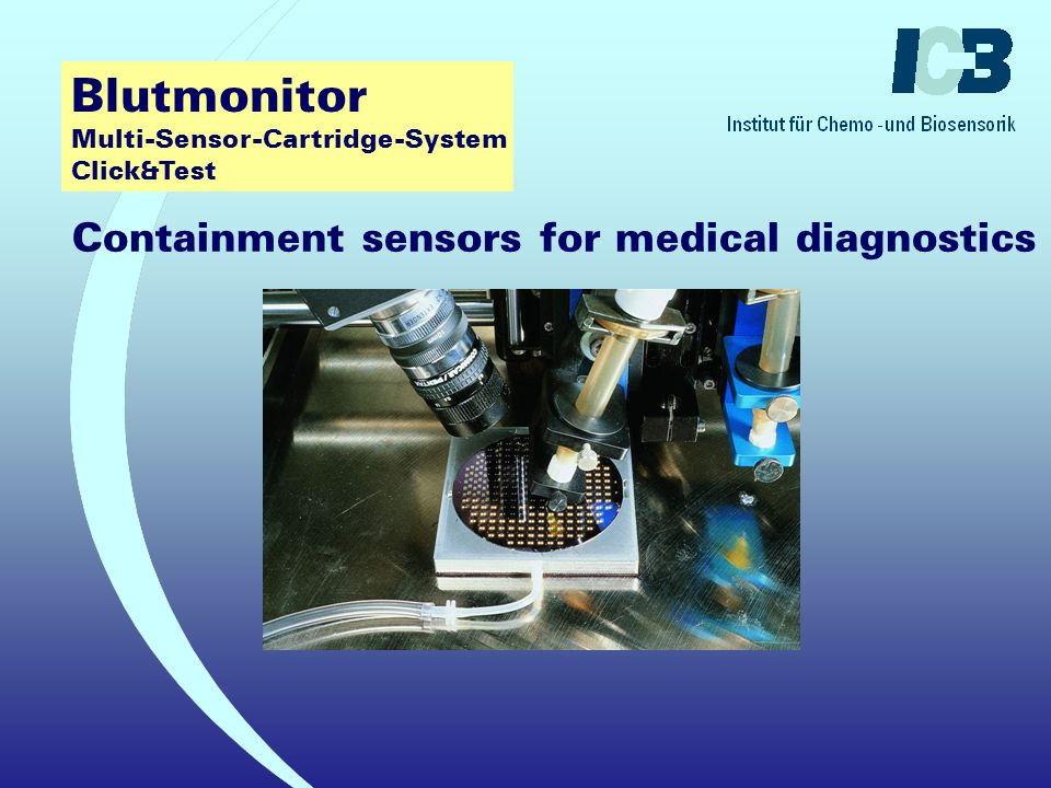 Blutmonitor Multi-Sensor-Cartridge-System Click&Test Containment sensors for medical diagnostics