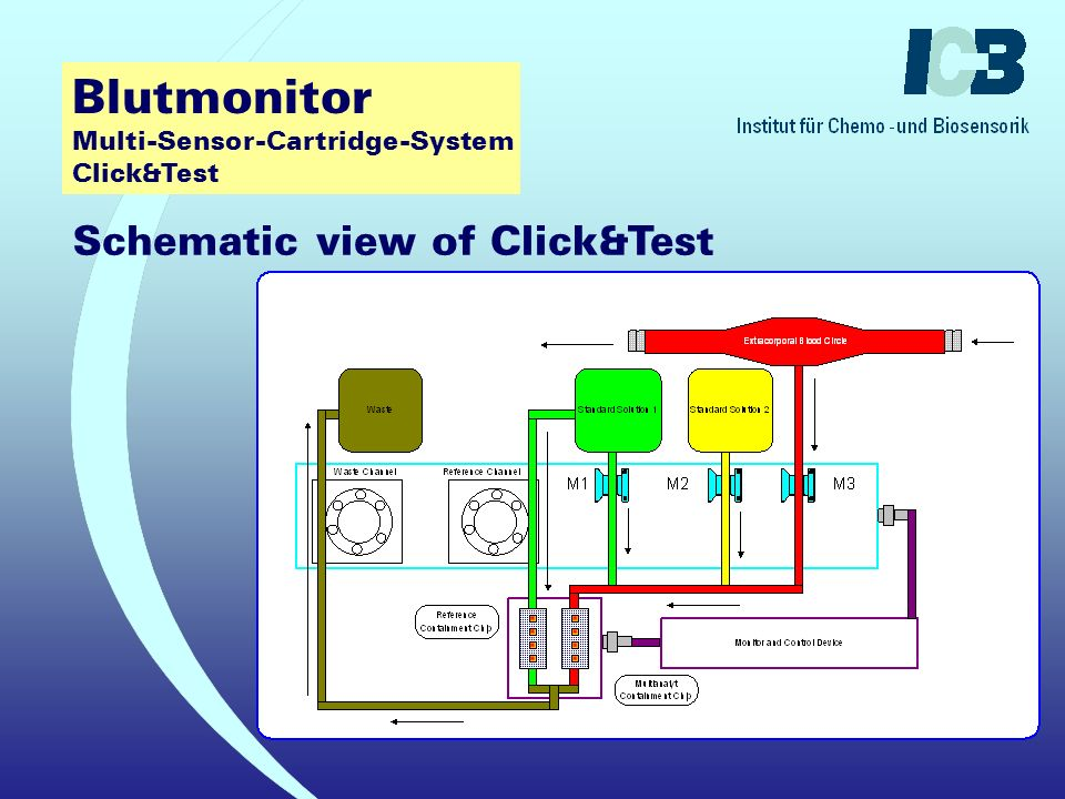 Click&Test: T - Connector with adapter . Click&Test:Single use disposable Multi-Sensor-Cartridge .