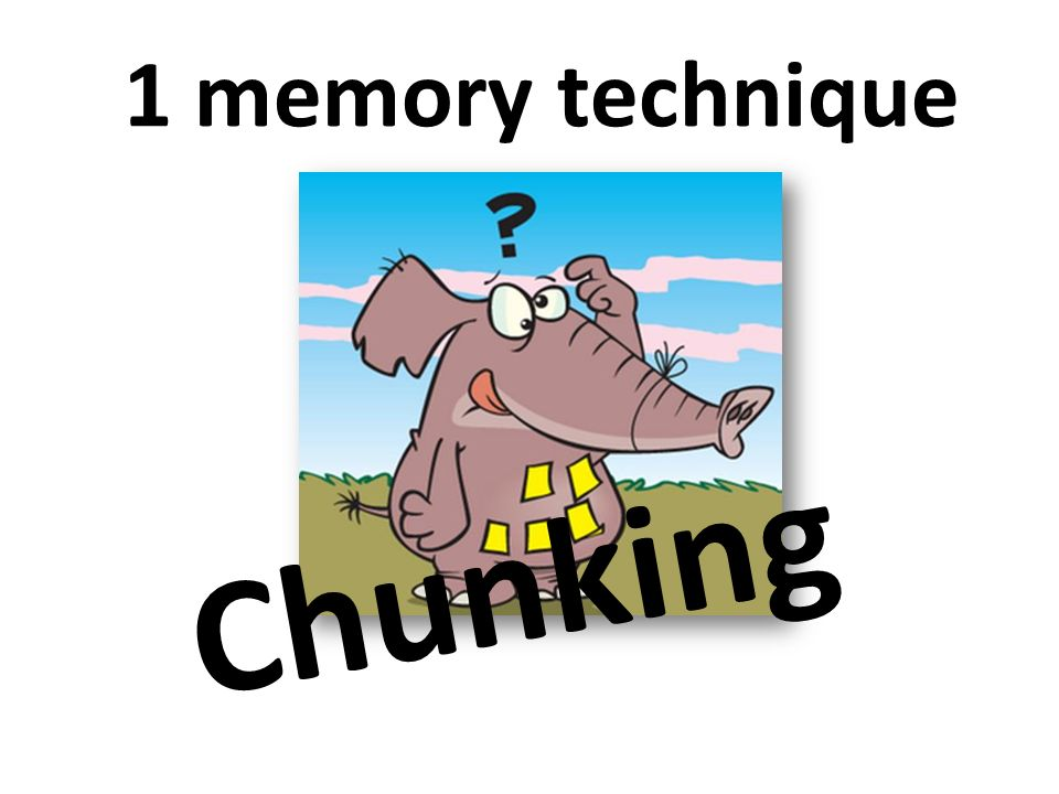 1 memory technique Chunking