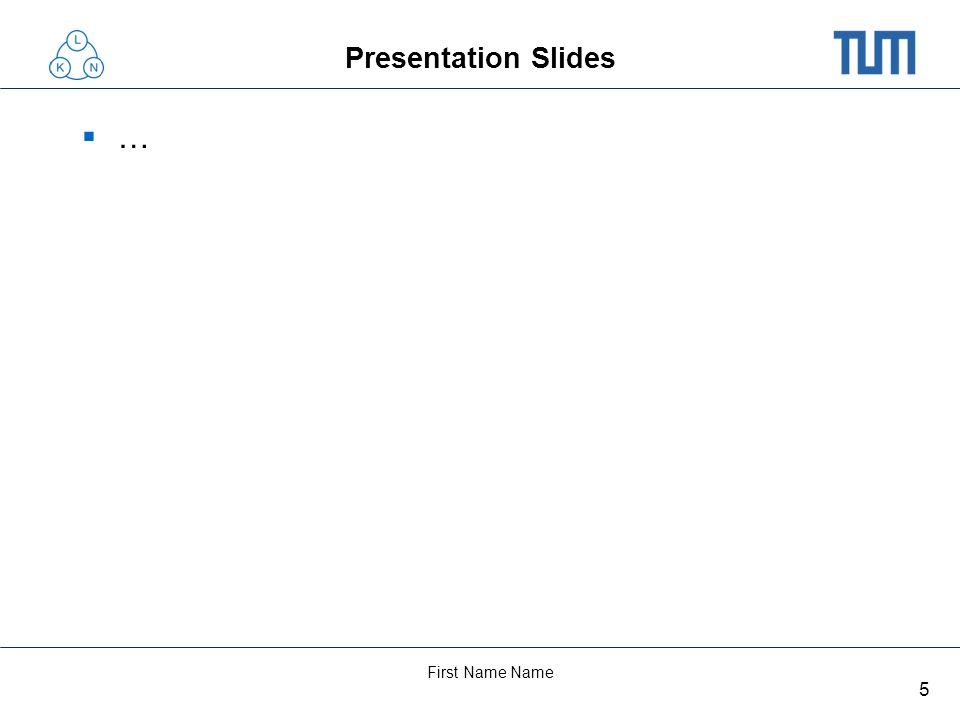 5 First Name Name Presentation Slides …