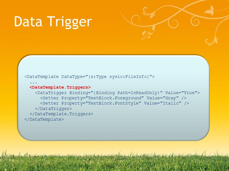 Data Trigger......