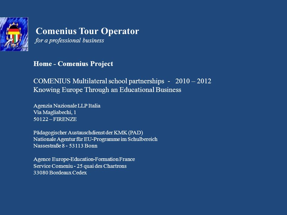A Business tour around Milan From Monday, 17th September to Saturday, 22nd September 2012