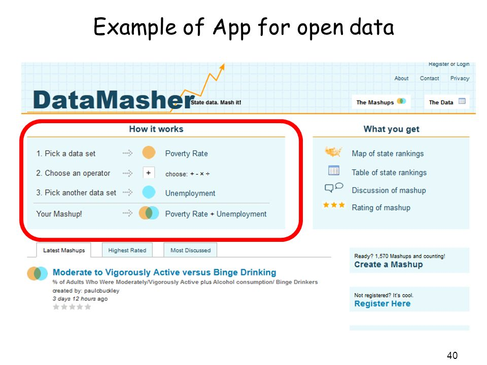 Example of App for open data 40