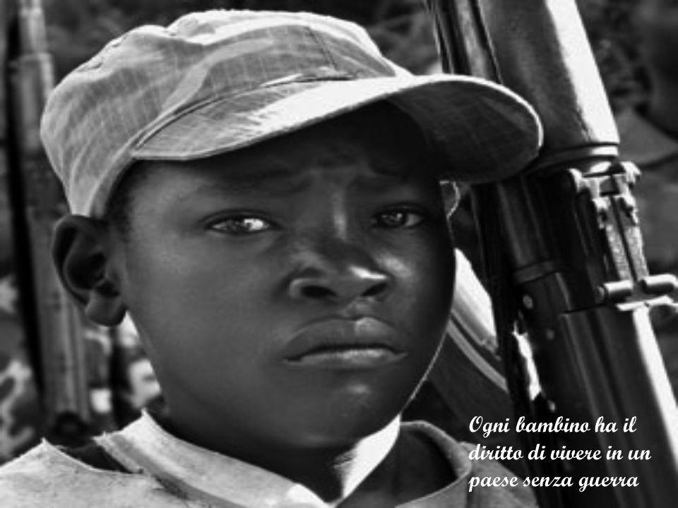 Ogni bambino ha il diritto di vivere in un paese senza guerra