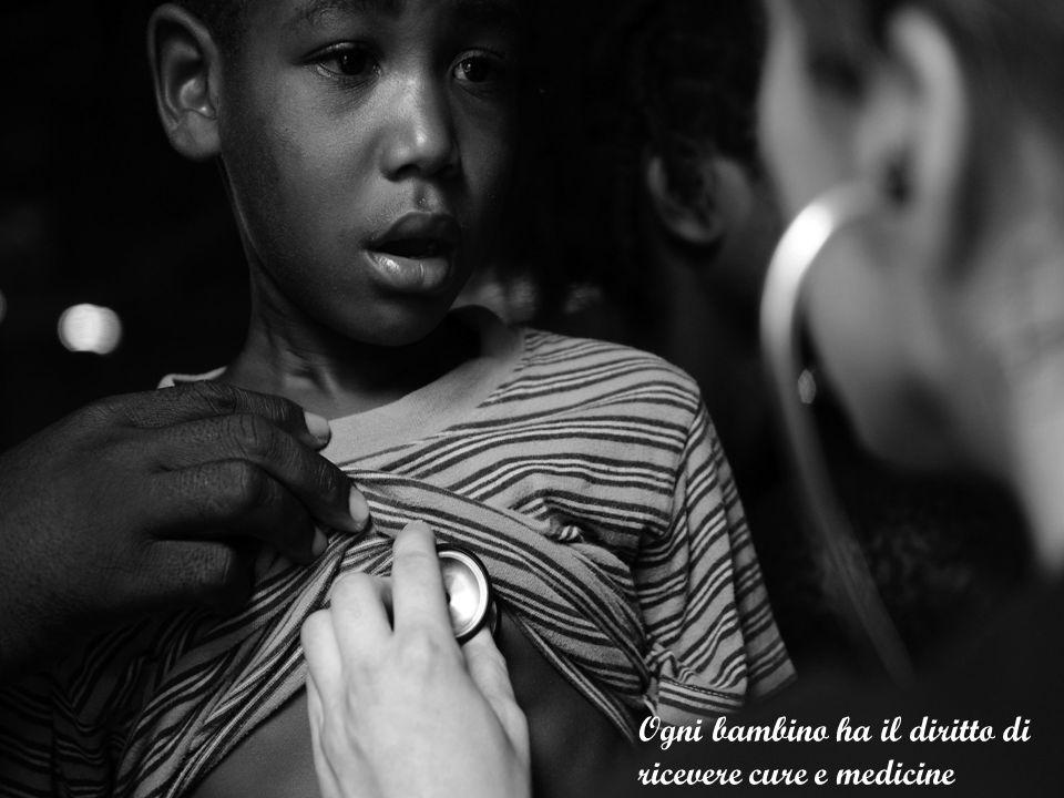 Ogni bambino ha il diritto di ricevere cure e medicine