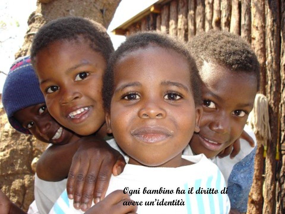 Ogni bambino ha il diritto di avere unidentità
