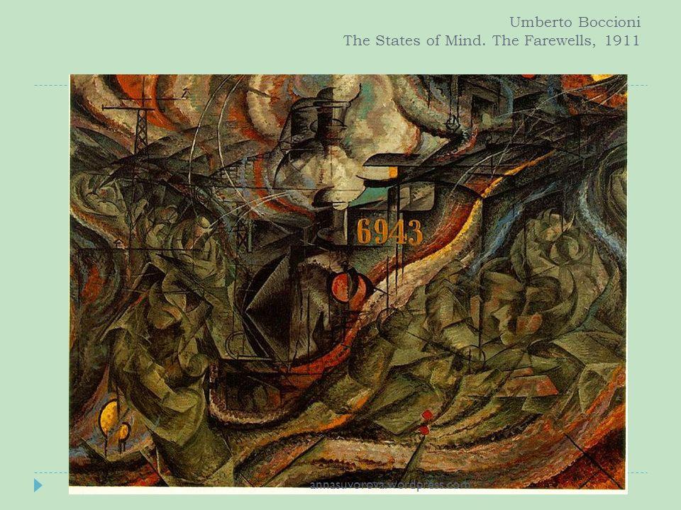 Umberto Boccioni The States of Mind. The Farewells, 1911 annasuvorova.wordpress.com