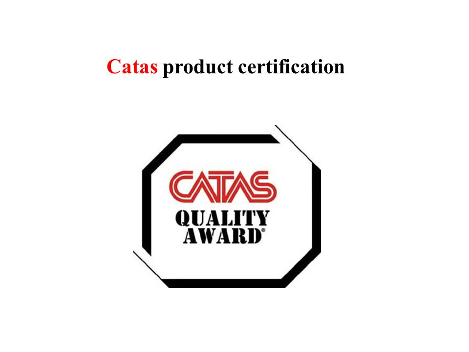 Catas product certification