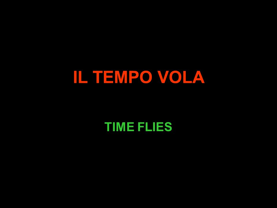 IL TEMPO VOLA TIME FLIES