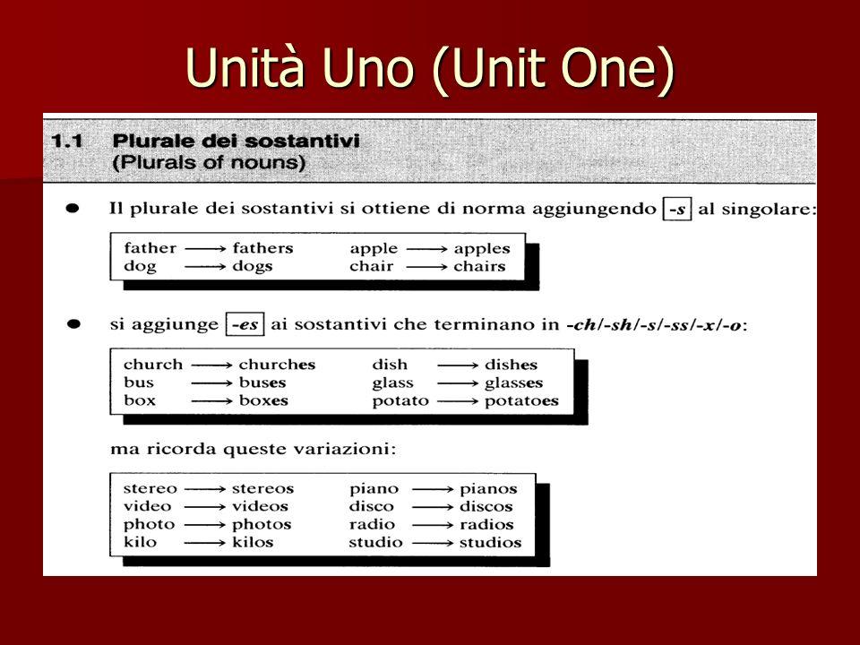Unità Uno (Unit One)