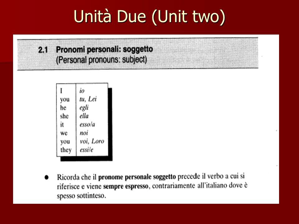 Unità Due (Unit two)