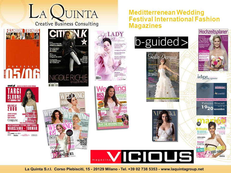 Meditterrenean Wedding Festival International Fashion Magazines