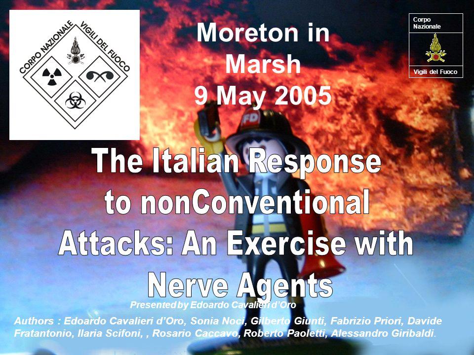 Moreton in Marsh 9 May 2005 Authors : Edoardo Cavalieri dOro, Sonia Noci, Gilberto Giunti, Fabrizio Priori, Davide Fratantonio, Ilaria Scifoni,, Rosario Caccavo, Roberto Paoletti, Alessandro Giribaldi.