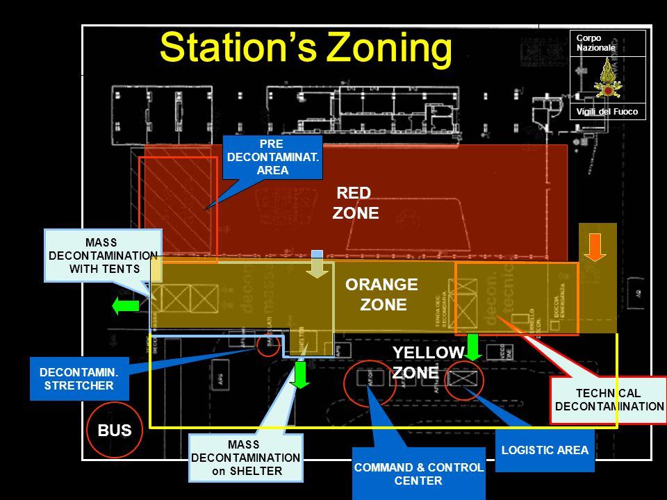 Vigili del Fuoco Corpo Nazionale BUS RED ZONE DECONTAMIN.