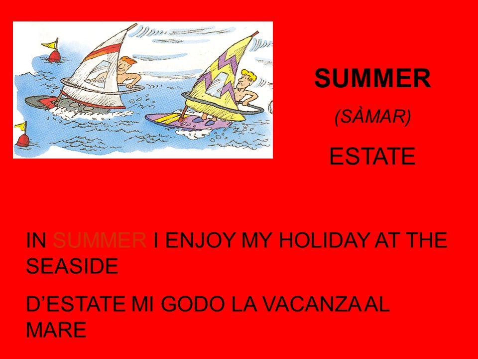 SUMMER (SÀMAR) ESTATE IN SUMMER I ENJOY MY HOLIDAY AT THE SEASIDE DESTATE MI GODO LA VACANZA AL MARE