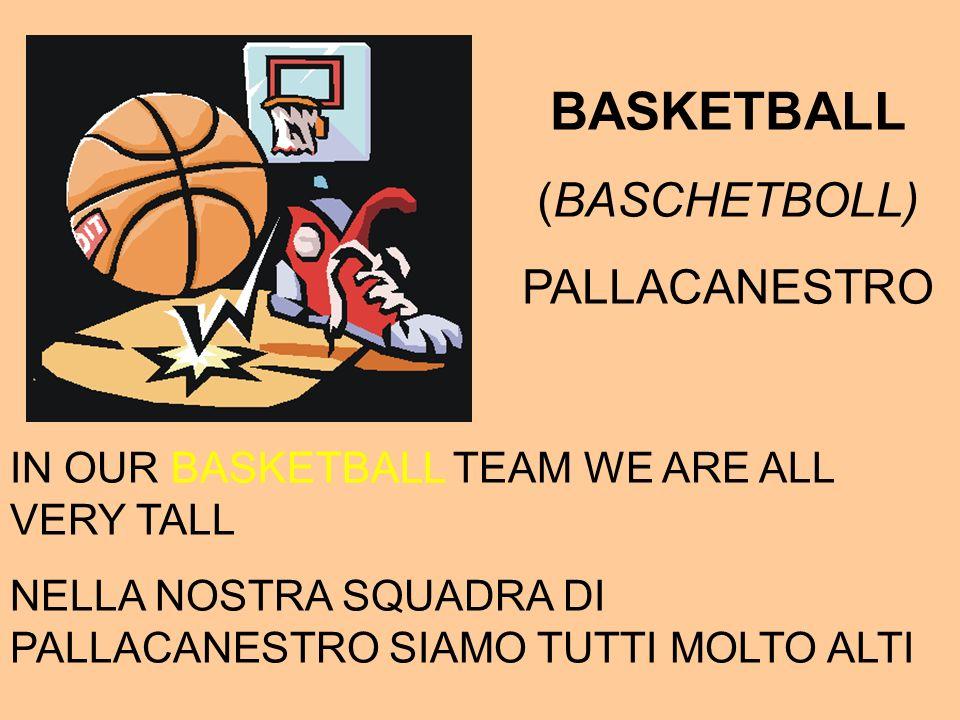BASKETBALL (BASCHETBOLL) PALLACANESTRO IN OUR BASKETBALL TEAM WE ARE ALL VERY TALL NELLA NOSTRA SQUADRA DI PALLACANESTRO SIAMO TUTTI MOLTO ALTI