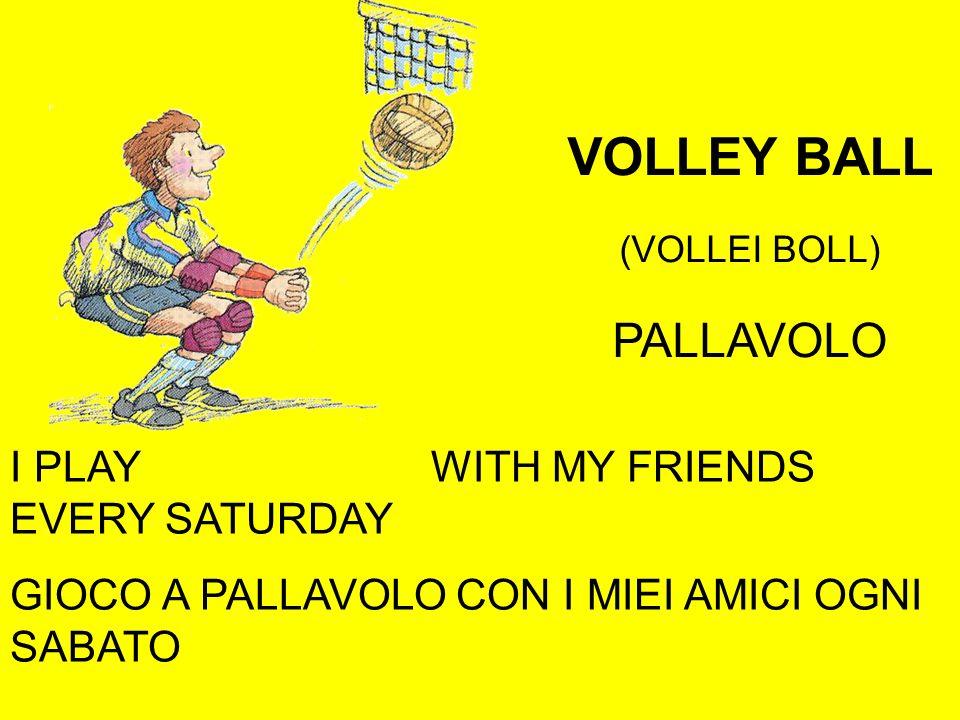 VOLLEY BALL (VOLLEI BOLL) PALLAVOLO I PLAY VOLLEYBALL WITH MY FRIENDS EVERY SATURDAY GIOCO A PALLAVOLO CON I MIEI AMICI OGNI SABATO