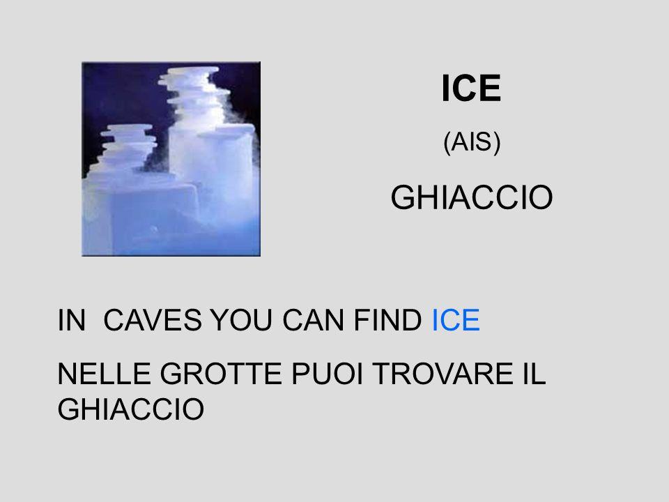 ICE (AIS) GHIACCIO IN CAVES YOU CAN FIND ICE NELLE GROTTE PUOI TROVARE IL GHIACCIO