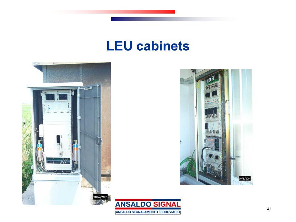 41 LEU cabinets