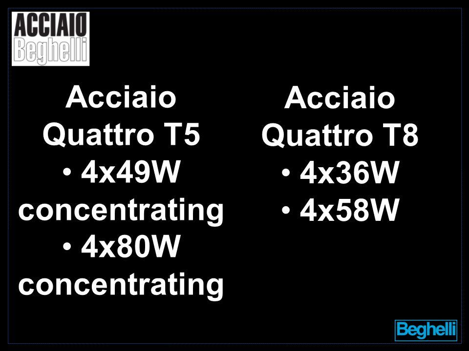 4x36W 4x58W Acciaio Quattro T5 4x49W concentrating 4x80W concentrating