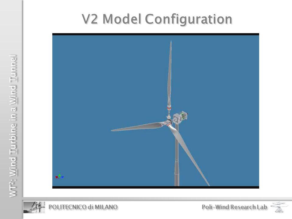 WT 2 : Wind Turbine in a Wind Tunnel POLITECNICO di MILANO Poli-Wind Research Lab V2 Model Configuration