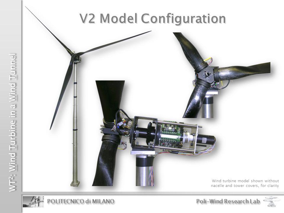 WT 2 : Wind Turbine in a Wind Tunnel POLITECNICO di MILANO Poli-Wind Research Lab V2 Model Configuration Wind turbine model shown without nacelle and