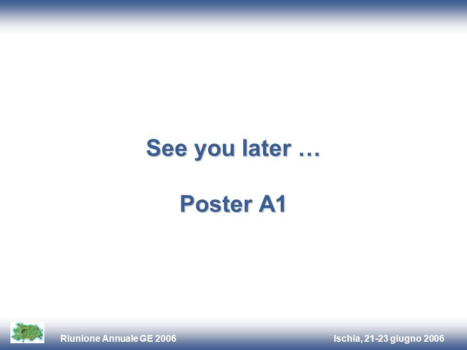 Ischia, 21-23 giugno 2006Riunione Annuale GE 2006 See you later … Poster A1