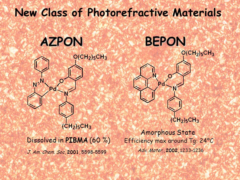 AZPON BEPON Dissolved in PIBMA (60 %) J. Am. Chem.