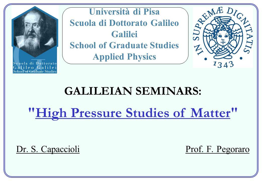 Dr. S. Capaccioli Prof. F.