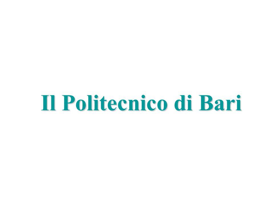 Politecnico di Bari, DEE, Power Electronics Research Group Marco Liserre liserre@ieee.org Il Politecnico di Bari