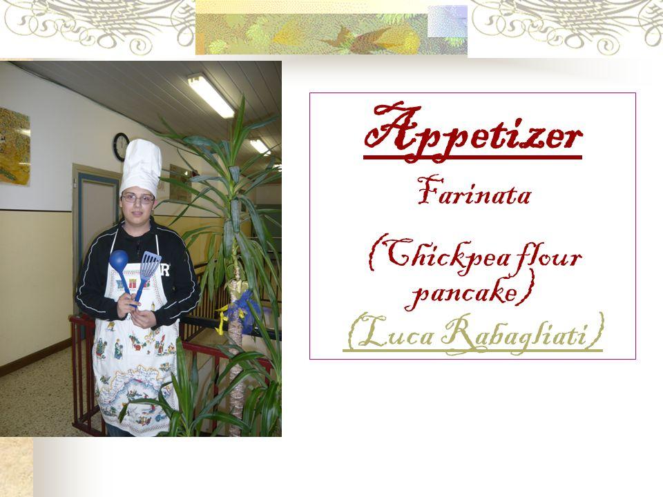 Appetizer Farinata (Chickpea flour pancake) (Luca Rabagliati)