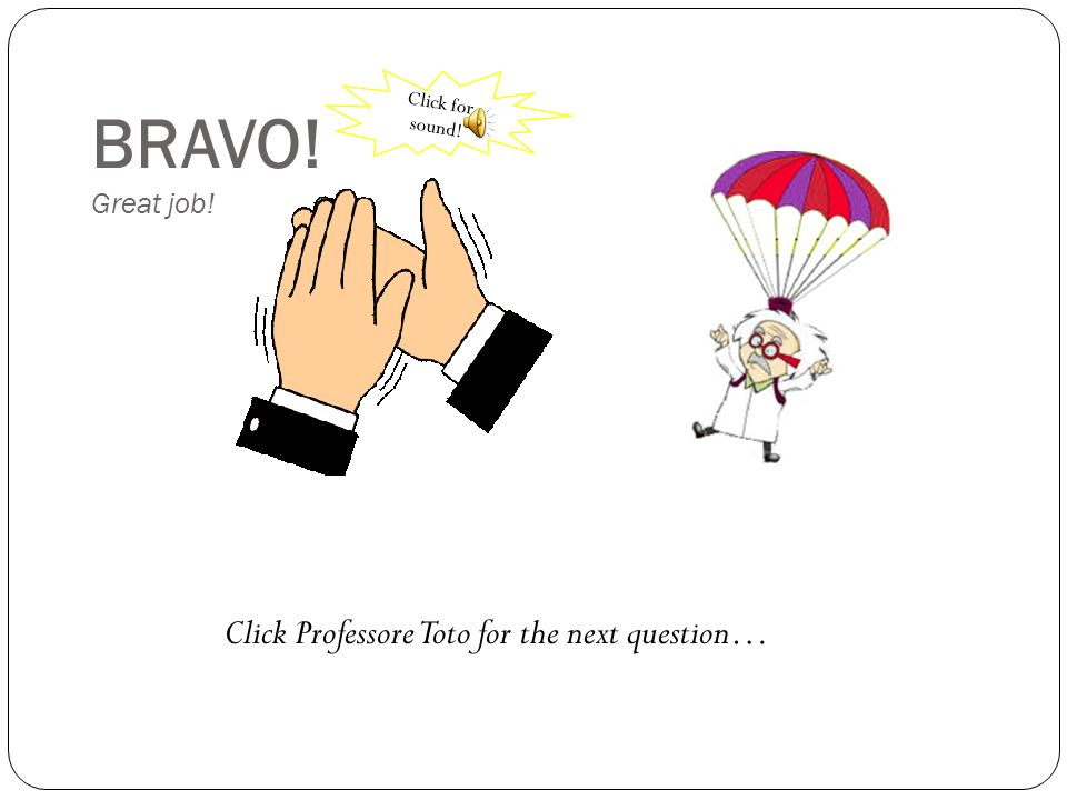 Sei sicuri? Are you sure? Click Professor Toto to go back the question…