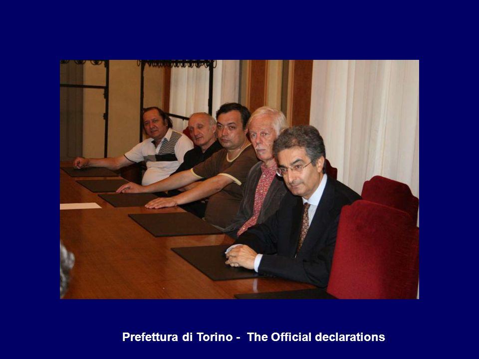Prefettura di Torino - The Official declarations