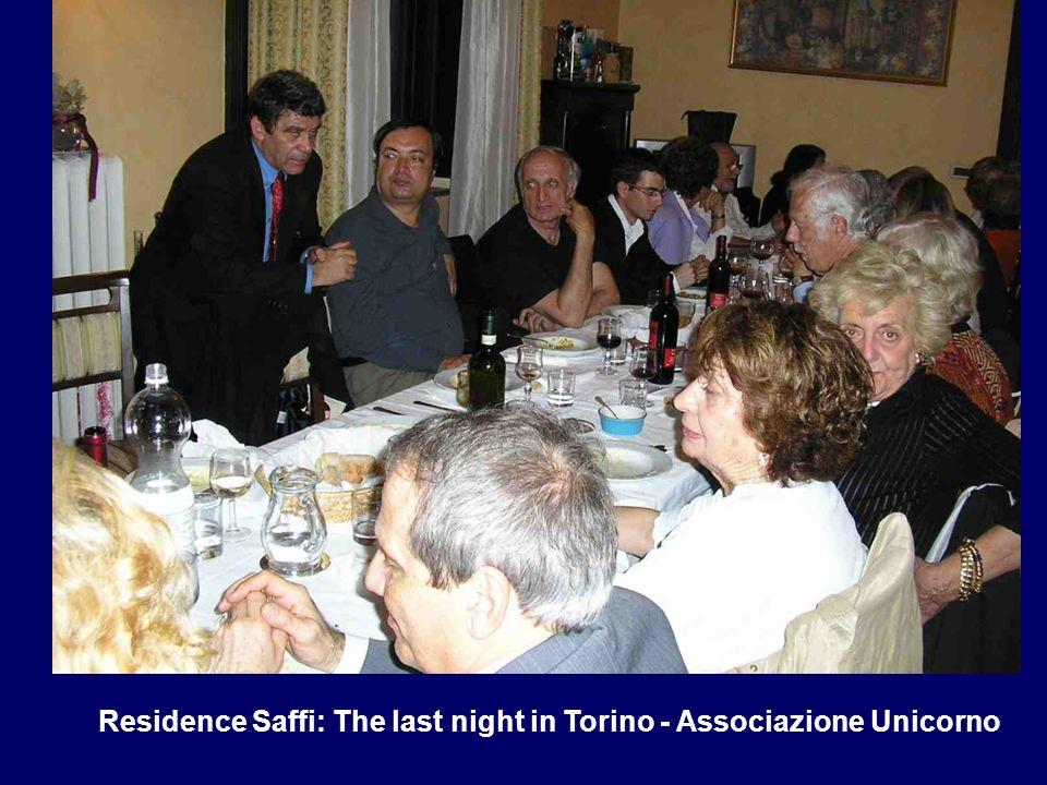 Residence Saffi: The last night in Torino - Associazione Unicorno