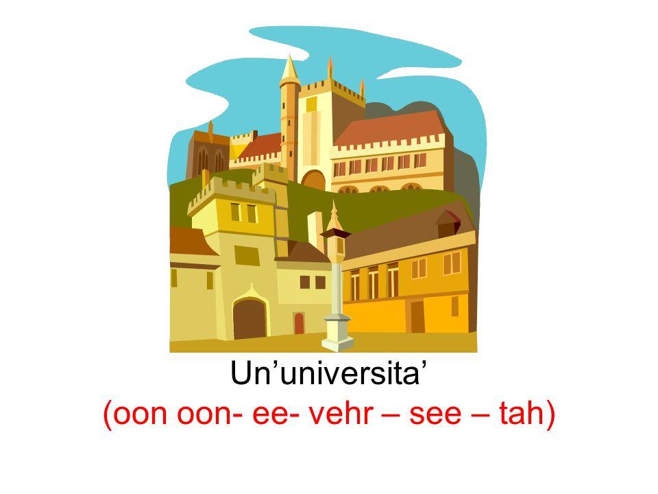 Ununiversita (oon oon- ee- vehr – see – tah)