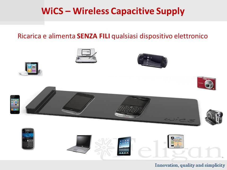 WiCS – Wireless Capacitive Supply Ricarica e alimenta SENZA FILI qualsiasi dispositivo elettronico Innovation, quality and simplicity