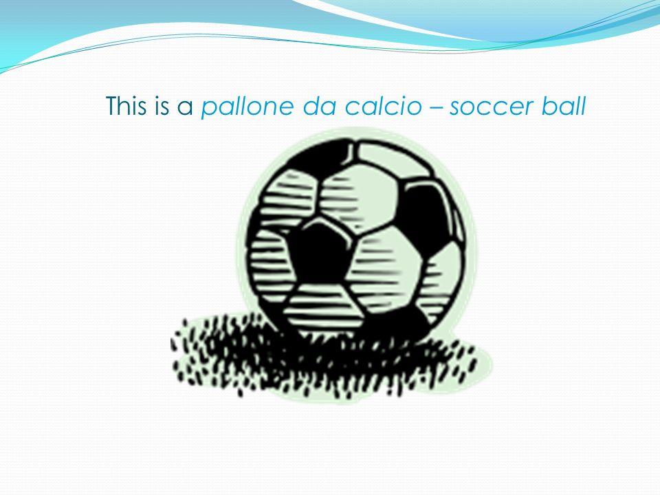 This is a pallone da calcio – soccer ball