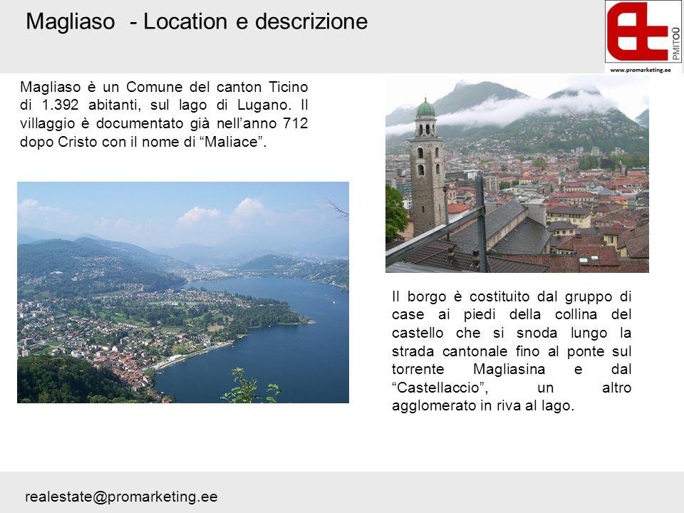 Magliaso - Location e descrizione Magliaso è un Comune del canton Ticino di 1.392 abitanti, sul lago di Lugano. Il villaggio è documentato già nellann