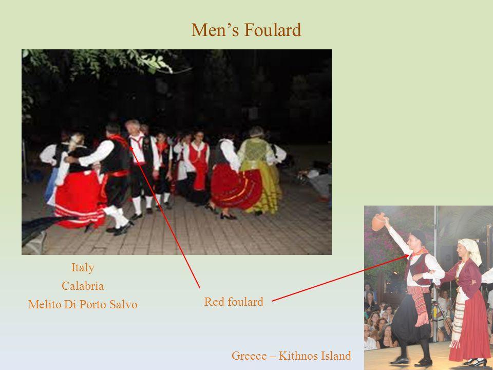 Greece – Kithnos Island Red foulard Italy Calabria Melito Di Porto Salvo Mens Foulard