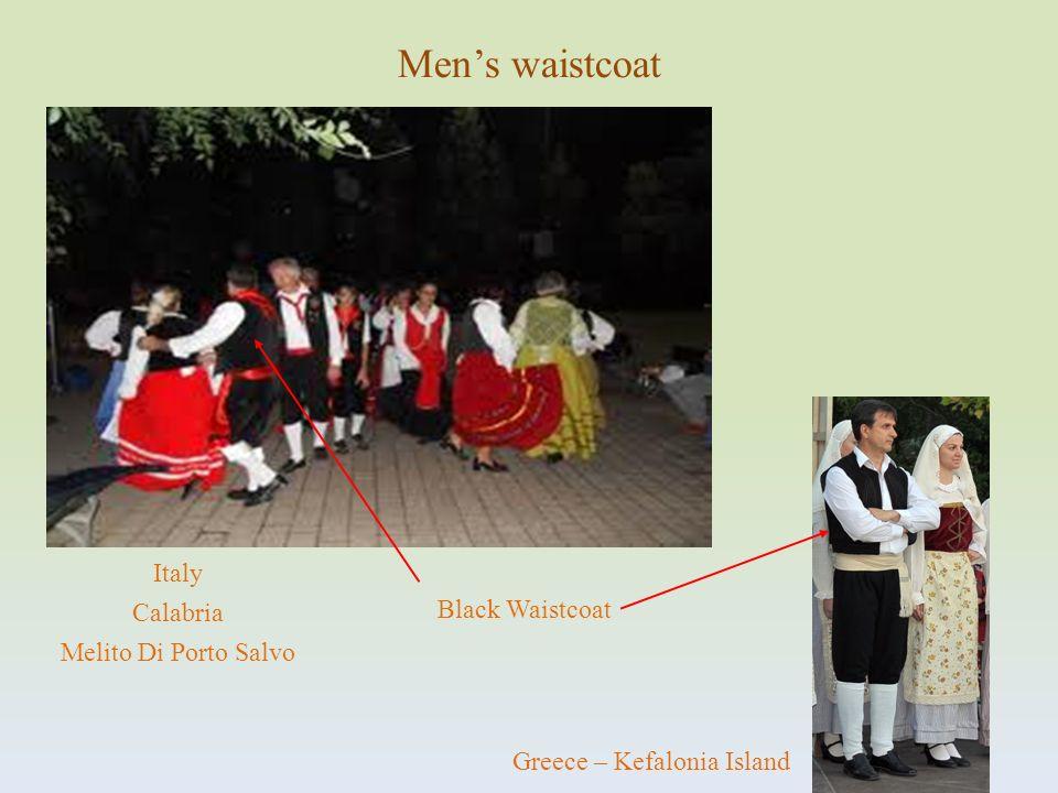 Black Waistcoat Mens waistcoat Italy Calabria Melito Di Porto Salvo Greece – Kefalonia Island