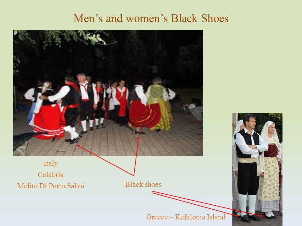 Black shoes Italy Calabria Melito Di Porto Salvo Mens and womens Black Shoes Greece – Kefalonia Island