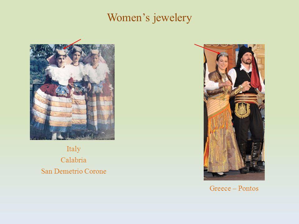 Italy Calabria San Demetrio Corone Womens jewelery Greece – Pontos