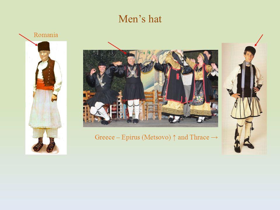 Romania Mens hat Greece – Epirus (Metsovo) and Thrace